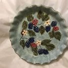 """EXCELLENT CONDITION Mesa International Pottery Low Bowl w/ Ruffled Edge - 10""""W"""