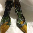 NEW Kate Spade Floral Patterned High Heel w/ Ankle Strap Shoe - 7.5