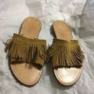 EXCELLENT CONDITION Niccolo Vacari Suede Fringe Slip-on Flats - 6