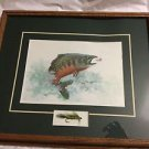 "ARTIST PROOF Matted and Framed Print by Royann H. Baum w/ Lure - 17"" x 14"""