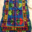 "NEW VINTAGE Vera (Neumann) Vivid Floral Silk-Blend Oblong Scarf - 15"" x 44"""