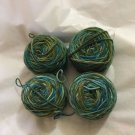 4 Spools Araucania 100% Pure Natural Chilean Hand-Dyed Wool Yarn