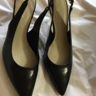 NEW Via Spiga Black Leather Slingbacks - 10.5