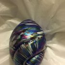 EXCELLENT CONDITION 1992 Nuance New Orleans Iridescent Art Glass Egg Paperweight