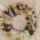 """The 12 Days of Christmas Fused Glass Art Plate Signed by Artist - 14"""""""