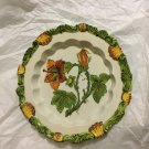 "EXCELLENT CONDITION  Italian Art Pottery Faience Majolica Display Plate - 9.5""W"