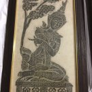 "PAIR (2) Framed Hindu Temple Rubbings - 13"" x 22"""
