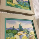 "ORIGINAL Pair of Artist Signed 2000 Plein Air Oil Paintings - 13"" x 11"" Framed"