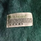 "EXCELLENT CONDITION St Albans 100% Mohair Plaid Scarf - 9.5""W x 61""L"