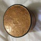 NEW Patricia Nash Tondo Distressed Copper Round Leather Box