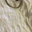 NEW J. Crew White Linen T-Shirt w/ Mesh Collar - XXS