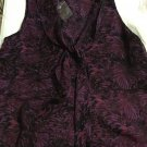 NEW Hinge 100% Silk Sleeveless Top in Butterfly Print  - M