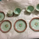 EXCELLENT CONDITION 4 SETS Adams Calyx Ware LOWESTOFT Teacups and Saucers
