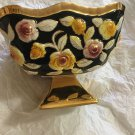 VINTAGE S.A. Leart Co. ELPA ALCOBACA Porcelain Rose Pattern Bowl w/ 24K Trim