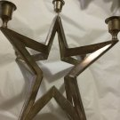 """UNIQUE Restoration Hardware 5-Taper Silver-Plated Star Candeholder-12""""W x 12.5""""T"""