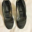 EXCELLENT CONDITION Dolce & Gabbana Black Lace, Ribbon & Suede Stilletos - 36