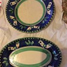 EXCELLENT CONDITION Vietri Art 2 Serving Pieces Dip. A Mano Made in Italy