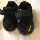 NEW Infant Toddler NIKE Black/Yellow/Gray Sneakers - US 3