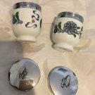 EXC. COND. Pair Royal Worcester Egg Coddler w/ Palmyra Pattern  - Std Size