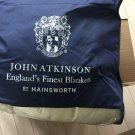 NEW John Atkinson 100% Pure New Wool Harlequin Blanket - Ivory in Full/Double