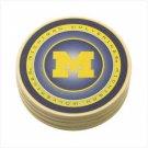 University of Michigan Absorbent Coasters  Item: 37817