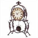 Wrought Iron Leaf Design Desk Clock  Item: 34266