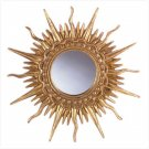 Gold Plated Sun Ray Mirror  Item: 31397
