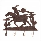 Metal Cowboy Wall Hooks  Item: 37431