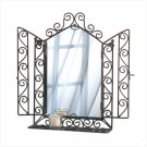 Wrought Iron Wall Mirror and Shelf  Item: 32407