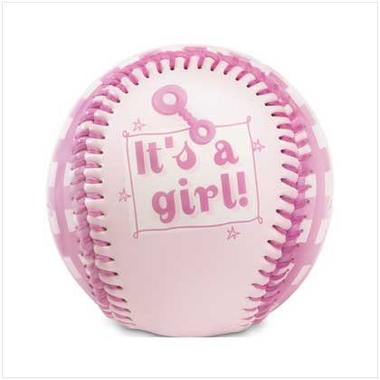 """It's A Girl!"" Pink Baseball"