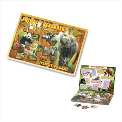 Animal Treasures Puzzle Book