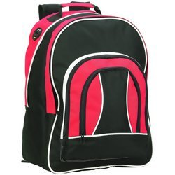 Maxam Red, Black and White Multi-Use Backpack  Item: LUBPRBW2