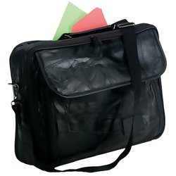 Maxam Brand Hand-Sewn Pebble Grain Genuine Leather Briefcase  Item: BCPLB