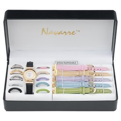 Navarre Ladies' Watch with Interchangable Bands and Faces  Item: JELWAT