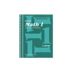 SAXON MATH 1 Home Study Teacher's Edition
