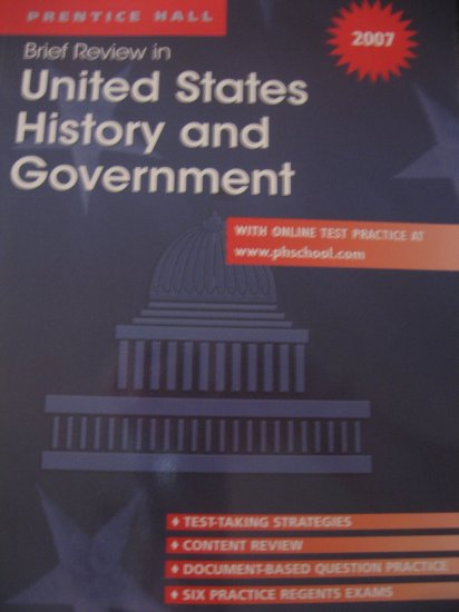 Brief Review in United States History and Government 2007 Book