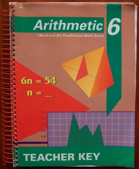 Abeka A Beka Arithmetic 6 Worktext Teacher Edition