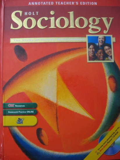 Holt Sociology The Study of Human Relationships Teacher TE
