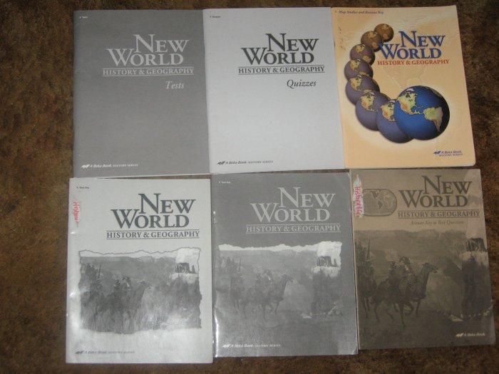 Abeka A Beka New World History and Geography Lot Teacher 6 Books