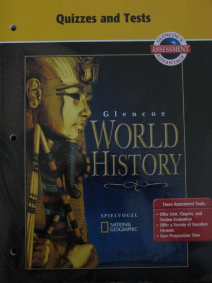 GLENCOE World History QUIZZES AND TESTS Book for Teachers