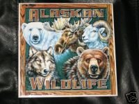 Alaska Wildlife Trivet Animals Ceramic Art Alaskan