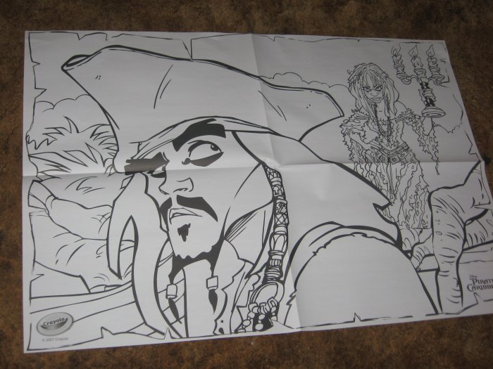 Pirates of the Caribbean 2 HUGE Coloring Posters