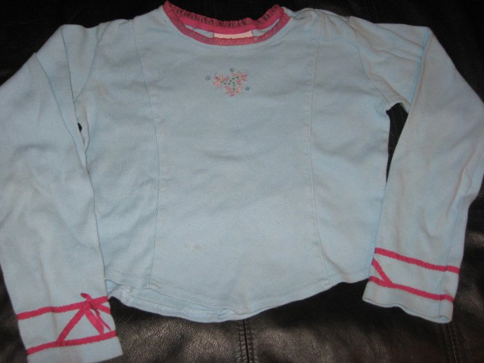 American Girl Long Sleeve T Shirt Cropped Size S 7 8 AG