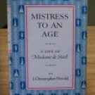 Mistress To An Age Life of Madame de Stael Herold HC 1958
