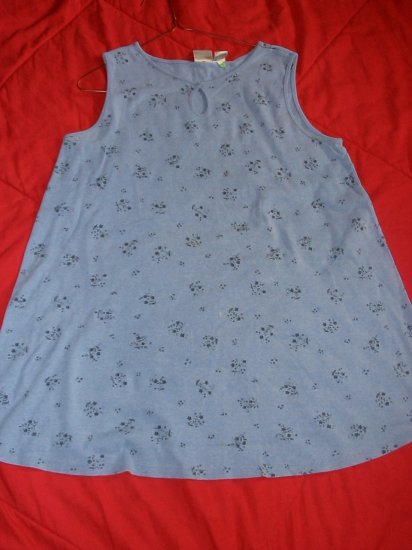 In Due Time Maternity Sleeveless Blue Shirt Size L