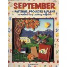 September Patterns Projects Plans Imogene Forte SC Book
