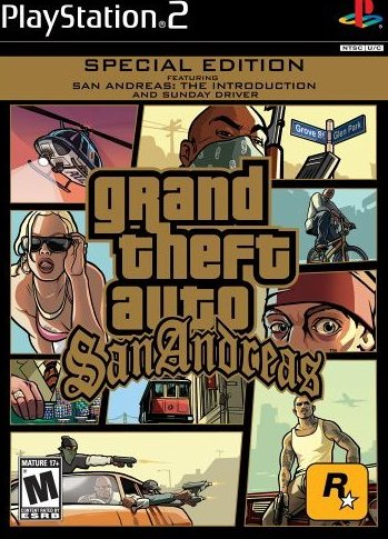 Grand Theft Auto: San Andreas (Special Edition, RARE) (PlayStation 2, PS2) (Never Played)