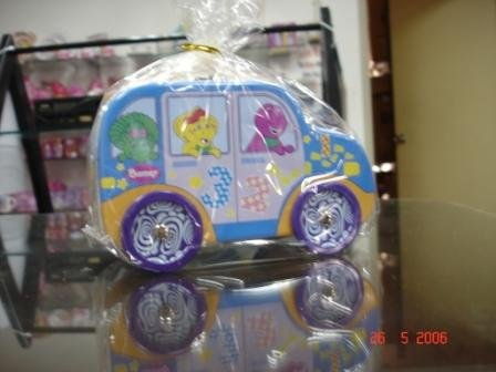 Barney bus shape coin box & money bank