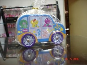 Barney bus shape coin box & money bank