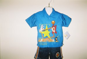 Toddler Boys Looney Tunes 2pc Short Set Size 3T